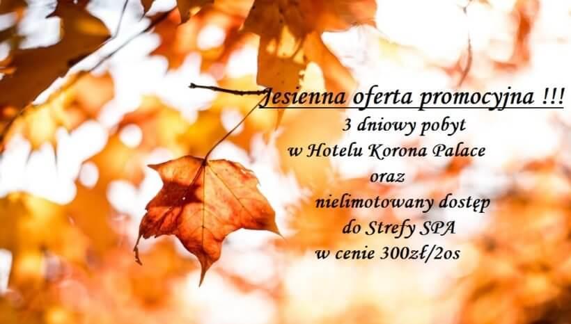 Jesienna promocja – pakiet pobytowy!